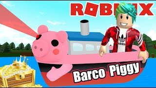 El Barco Piggy en Roblox | Buscando el Tesoro | Juegos Karim Juega