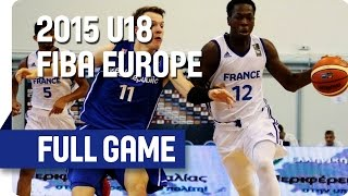 France v Czech Republic - Group A - Full Game - 2015 U18 European Championship Men