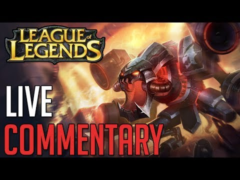 Cho'Gath Jungle Ranked Gold Live Commentary (League of Legends Gameplay)