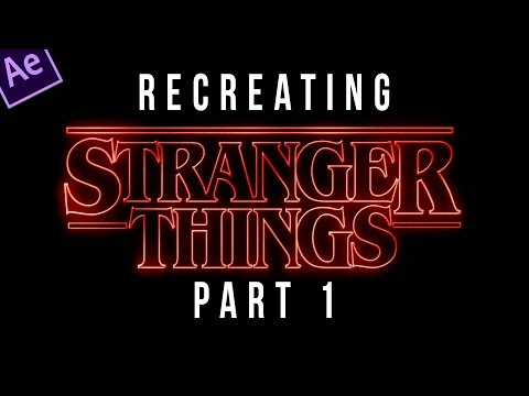 Stranger Things Title Sequence Animation Tutorial - PART 1 of 4