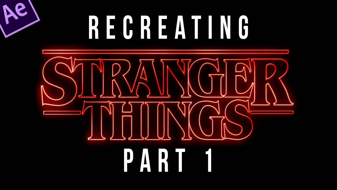 Stranger Things Title Sequence Animation Tutorial Part 1