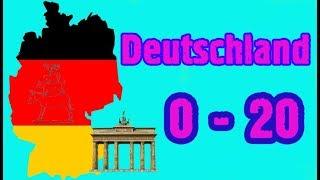 Цифры на Немецком  0-20