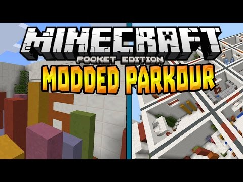 MCPE 0.14.3 MODDED PARKOUR!!! - Using Xbox Controller - Minecraft PE (Pocket Edition)
