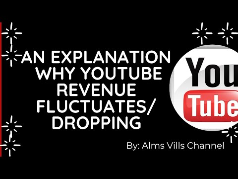 EXPLANATION WHY YOUTUBE  REVENUE FLUCTUATES OR DROPPING