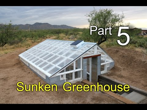 Sunken Greenhouse Part 5: Ventilation - Remington Solar, Wind Diversion