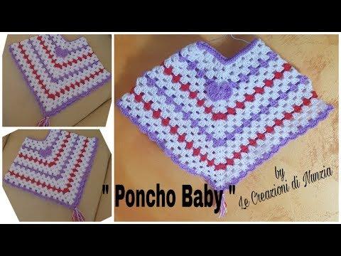 Poncho Baby Il Poncho Per Bimba A Uncinetto Youtube