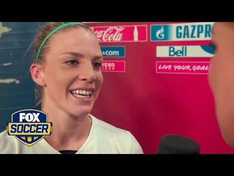 Julie Johnston gets emotional after win over Germany