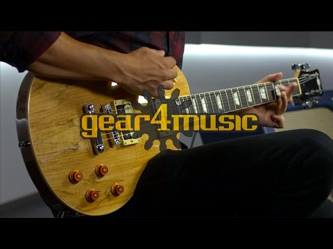 Spalted Maple New Jersey Electric Guitar by Gear4music