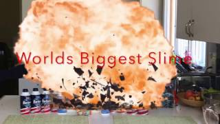 Biggest Slime in the world Satisfying Gone Wrong!!