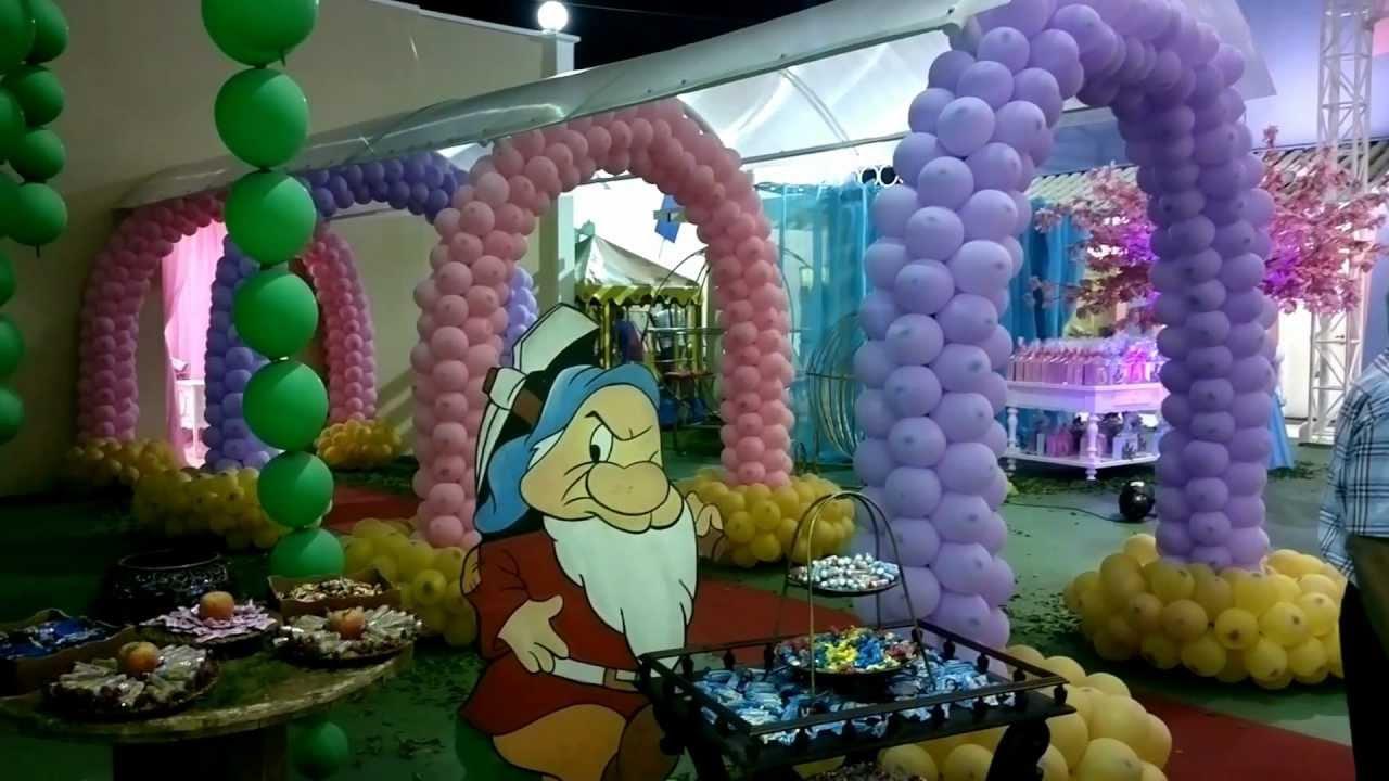 princesas como tema de decoraç u00e3o de festa infantil YouTube