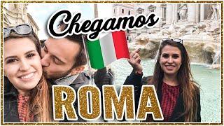 CHEGAMOS EM ROMA + FONTE DA SORTE - Vlog Itália 6