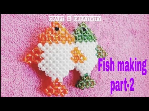 Beaded Fish Showpieces || Handmade Fish Making Tutorial || Fish Making Part-2 ||