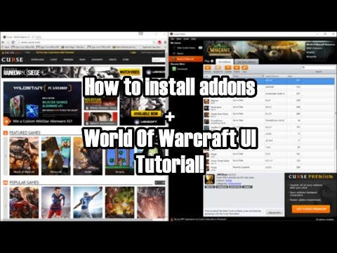 How to install addons on World Of Warcraft + UI tutorial!