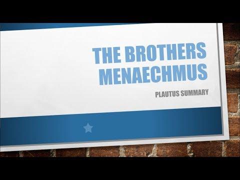 Brothers Menaechmus Summary - Plautus