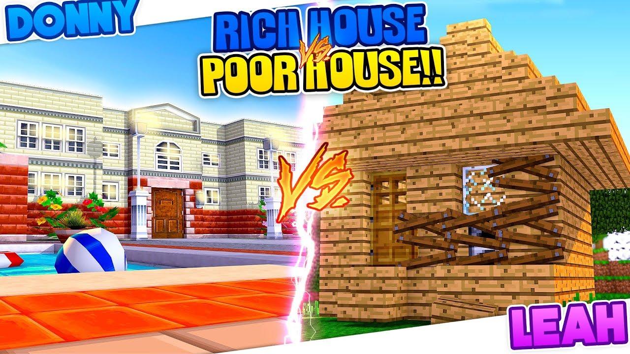 Minecraft RICH HOUSE VS POOR HOUSE BOY VS GIRL CHALLENGE YouTube