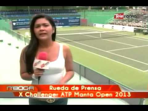 Rueda de prensa X Challenger ATP Manta Open 2013