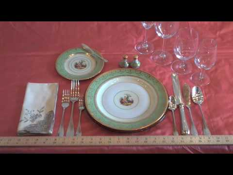 Place Setting With A Butler Stick Youtube