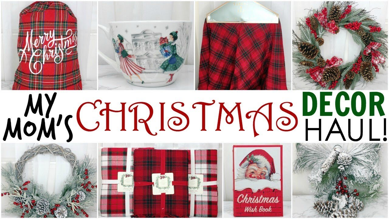 my moms christmas decor haul 2017 homegoods tj maxx marshalls joann fabrics - Joann Fabrics Christmas Decorations