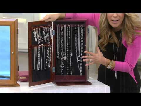 Tabletop Spinning MirroredJewelry Safekeeper by Lori Greiner on QVC