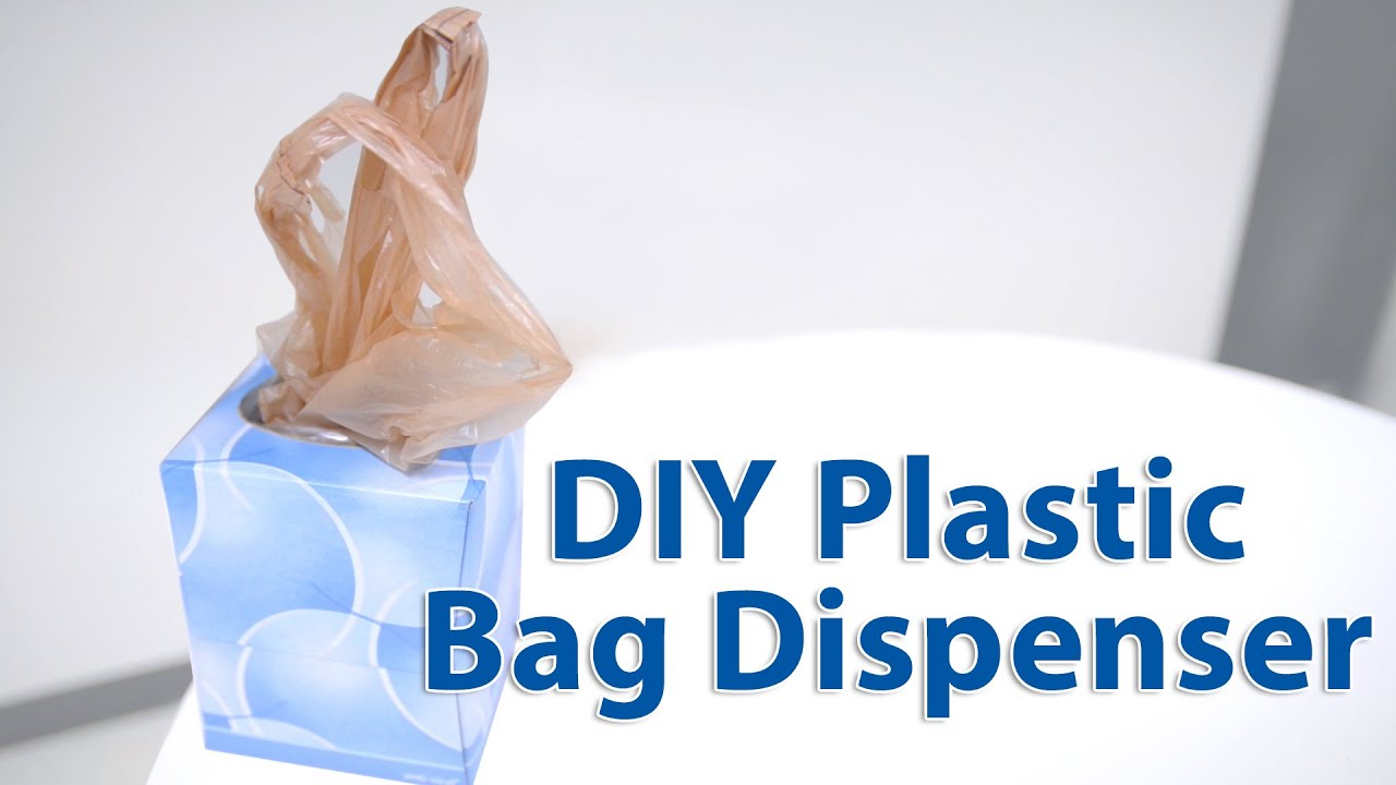c17b9543b3b The RIGHT Way to Make a Plastic Bag Dispenser  Organizing 101 - YouTube