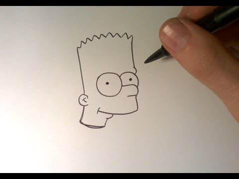 Comment dessiner bart simpson en entier how to draw bart youtube - Dessin de bart ...