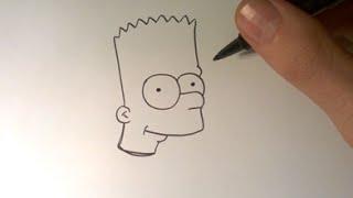 Comment dessiner Bart Simpson ( en entier ) / How to draw Bart