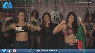 Melissa Martinez vs. Ivanna Martinenghi - Weigh-in Face-Off - (Combate Estrellas 2) - /r/WMMA