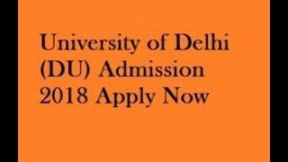 DELHI UNIVERSITY (D.U)  ONLINE ENTRANCE TEST DATE  FOR UG/PG/M.PHIL/PhD COURSES 2018