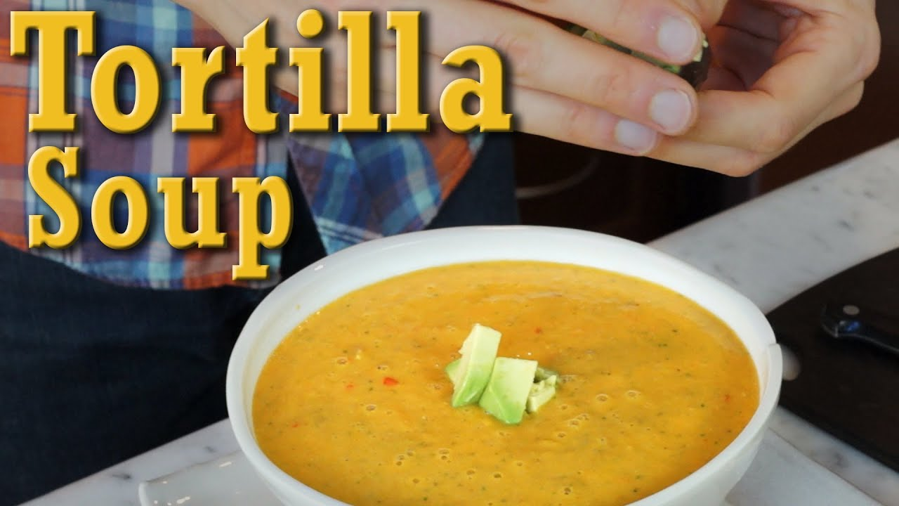 Tortilla soup quick easy organic vegan recipe youtube forumfinder Images