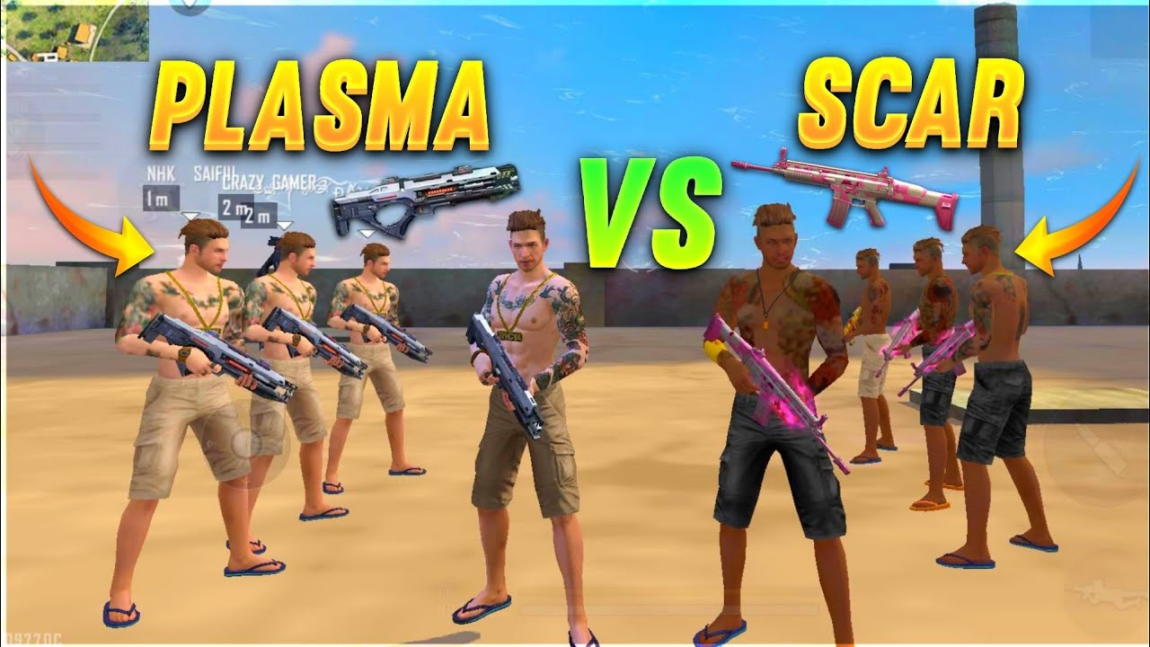 PLASMA vs SCAR FACTORY CHALLENGE😂|4 VS 4 WHO WILL WIN ?factoryfreefire Total gaming |A_S GAMING