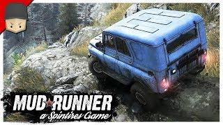 SPINTIRES - MudRunner : Insane Hill Climb! Night Driving & Loading Logs!