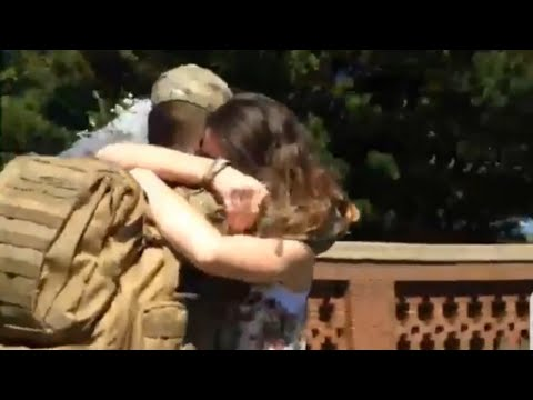 Soldier Surprises Girlfriend  RETURNS HOME from the Army