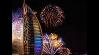 New year celebration 2015 burj al arab (downtowndubai)fireworks