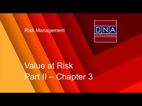 Value at Risk - Chapter 3