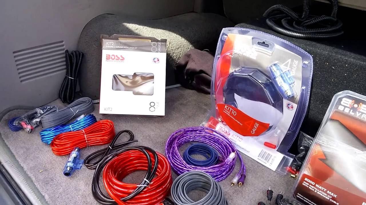 Boss Kit2 Vs Belva Bak82 Kit10 Bak42 Amplifier Installation Kia To Wiring Kit Comparison Youtube