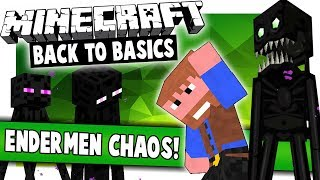 SO MANY ANGRY ENDERMEN! (Minecraft: Back 2 Basics)(Ep.9)