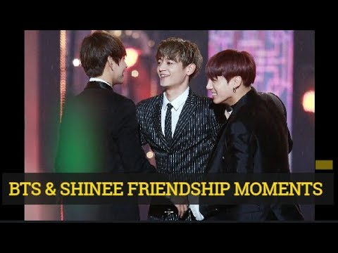 BTS & SHINEE FRIENDSHIP MOMENTS