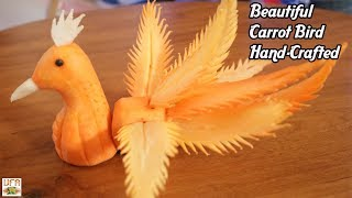 Beautiful Carrot Bird Hand-Crafted Instructions | How To Cut Vegetable Into Beautiful Bird