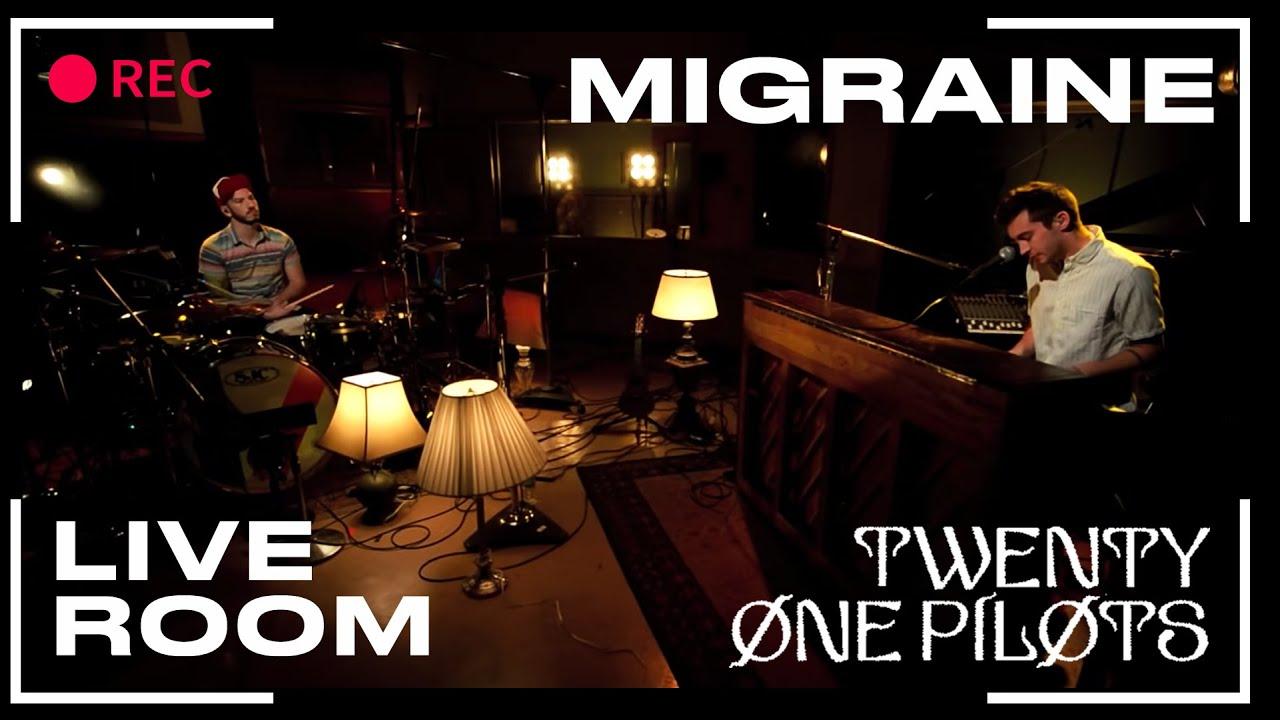 """twenty one pilots - """"Migraine"""" captured in The Live Room ..."""