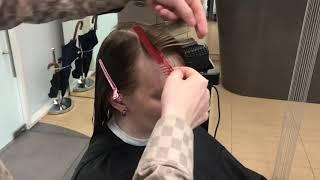 Как стричь косую чёлку в женской стрижке