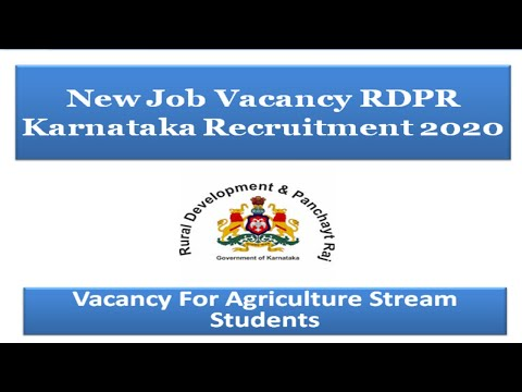 Agriculture Technical Assistant RDPR Karnataka Recruitment For Agriculture ,Horticulture ,Forestery