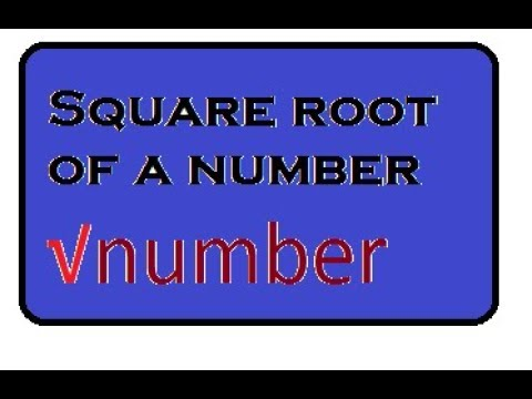 Square root of a number using math.h header file      #C language