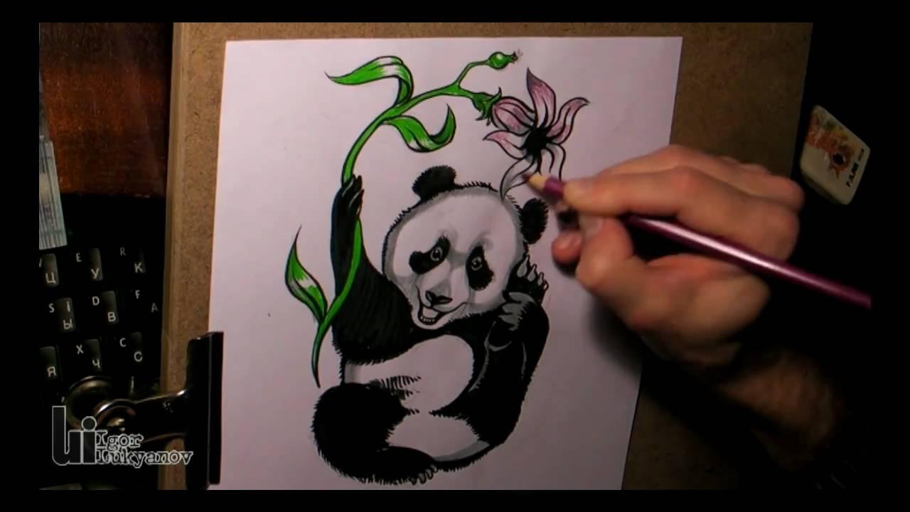 Drawing A Cute Baby Panda Youtube