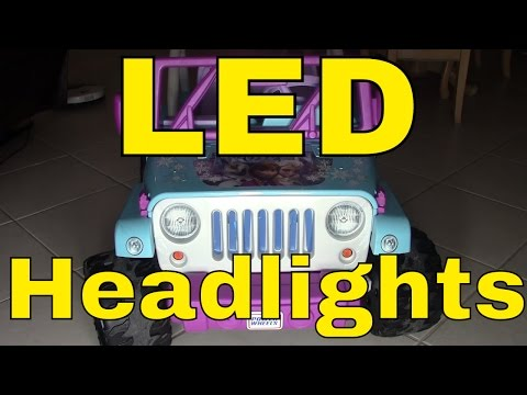 LED Lights/Wiring on a Power Wheels® Disney Frozen Jeep® Wrangler--Fisher-Price--Mod/Modification