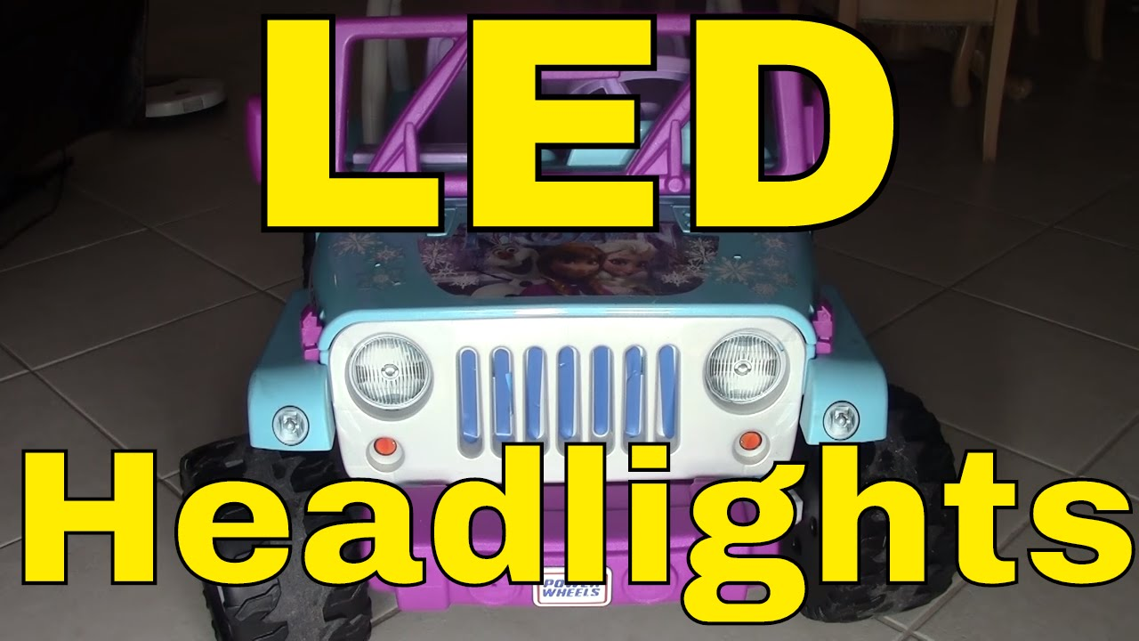 led lights/wiring on a power wheels� disney frozen jeep� wrangler--fisher- price--mod/modification