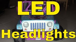 led lights/wiring on a power wheels® disney frozen jeep® wrangler--fisher-price--mod/modification  - youtube  youtube