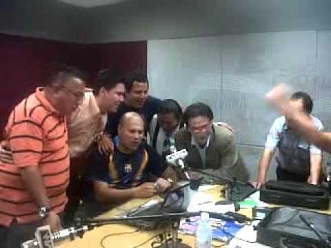 karaoke en programa de radio