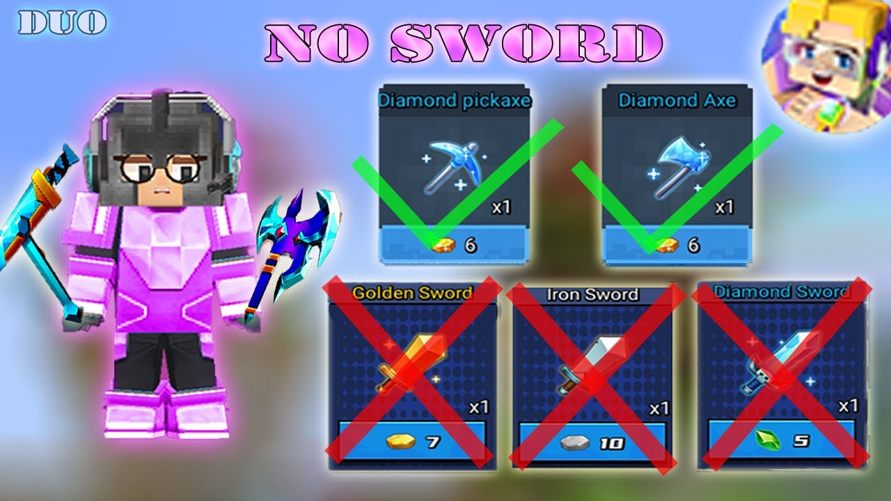 NO SWORD Challenge In DUO Bed Wars | Blockman Go Gameplay (Android , iOS)