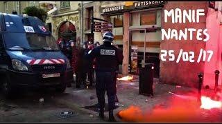 Manifestation violente à Nantes : Contre le FN ( 25/02/17 )