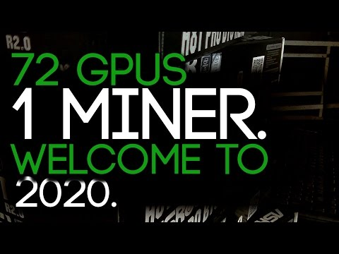 72 GPUs, 1 Mining RIG, The Future Of GPU Mining!